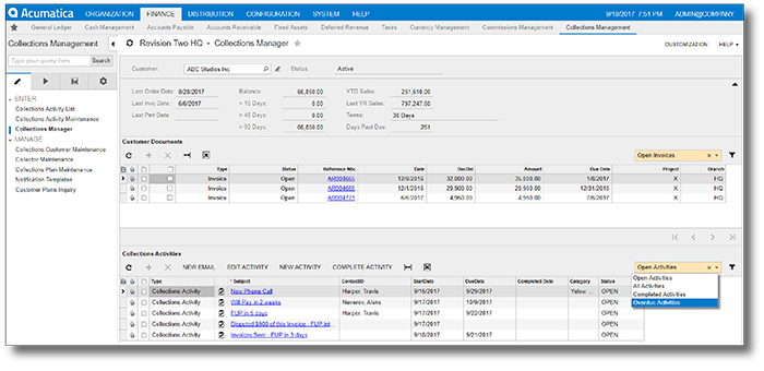 Collections Management for Acumatica