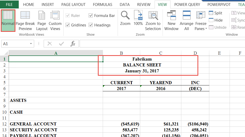 Management Reporter Headers in Excel - Crestwood Associates