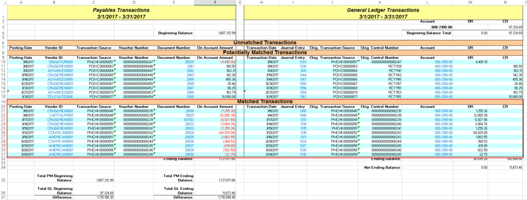 Reconcile to GL Routine in Microsoft Dynamics GP - Crestwood