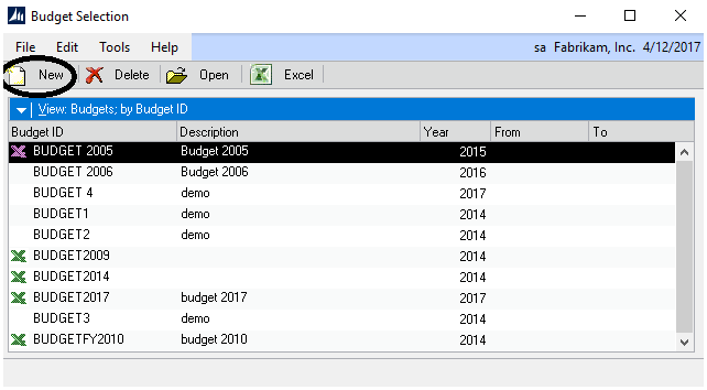 creating a dynamics gp budget excel template crestwood associates