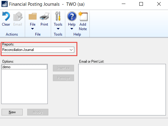 reprinting bank reconciliation reports in dynamics gp crestwood