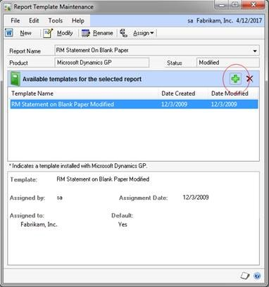 Where Are My Report Template Modifications In Dynamics Gp