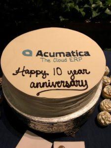 Acumatica 10 Year Anniversary Cake