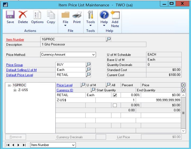 Dynamics GP Missing Setup