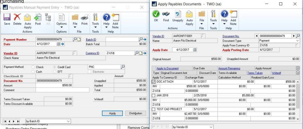 Credit Card Setup in Dynamics GP