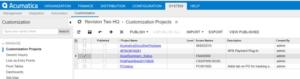 Add data fields Customized screens in Acumatica