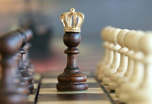 Crown on a chess piece
