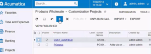 customization project adding data field in Acumatica