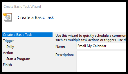 automatically send outlook agenda to email