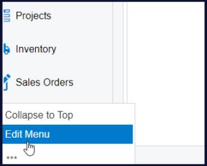 edit menu for missing screens in acumatica 1