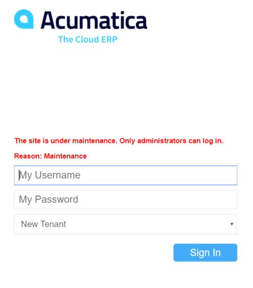 Login to Acumatica