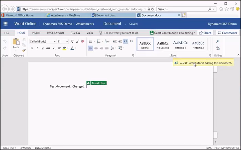 OneDrive Collaboration