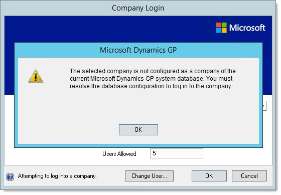 Troubleshooting Dynamics GP