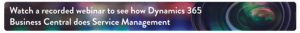 Dynamics 365 Business Central Service Management