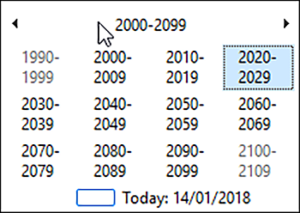 Date overview in Dynamics GP