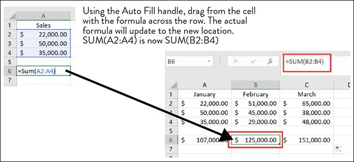 Microsoft Excel Auto Fill Formula