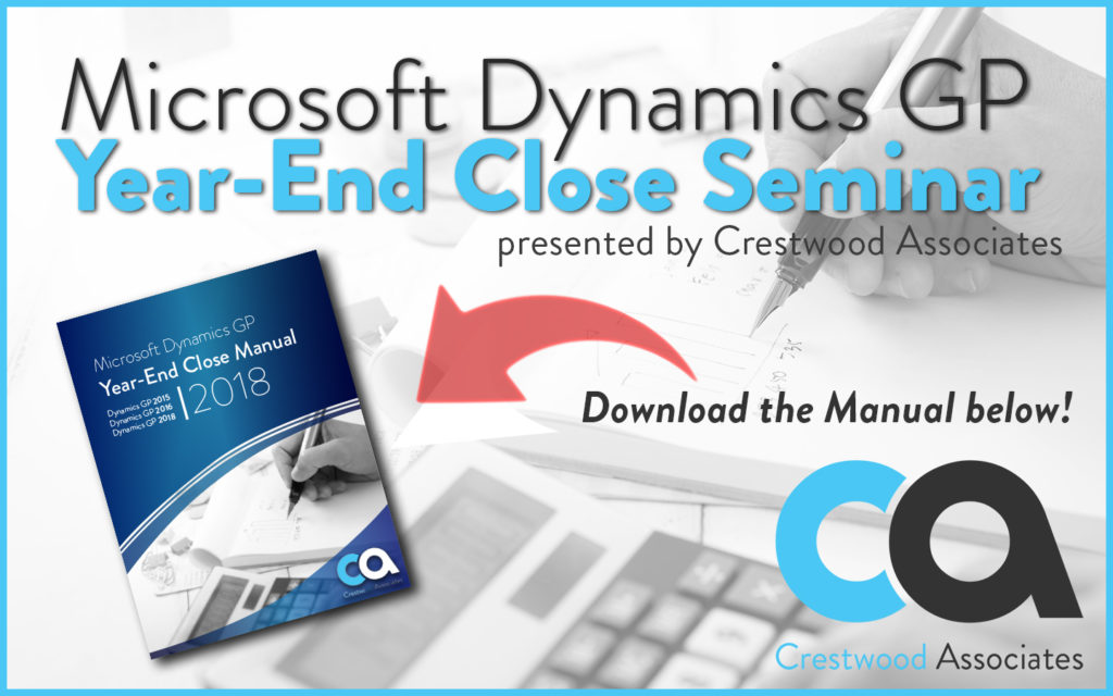 MICROSOFT DYNAMICS GP YEAR END MANUAL