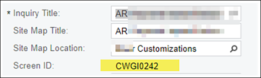 Adding Generic Inquiries to Custom Project
