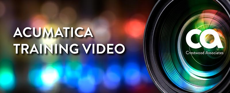 Acumatica Training Video