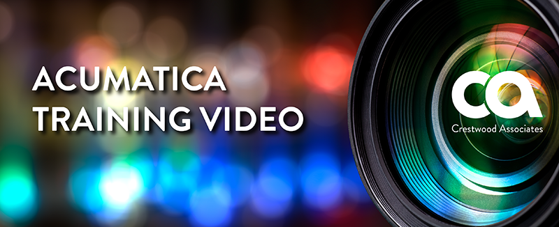 Acumatica Training Video