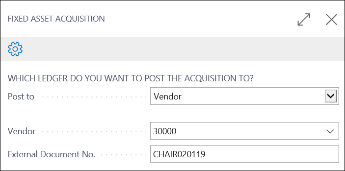 Dynamics 365 New Fixed Asset