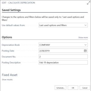 Dynamics 365 New Fixed Asset