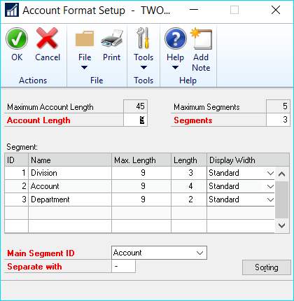 Charts in Dynamics GP