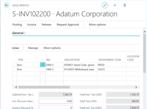 Dynamics 365 Account Schedules with Dimensions