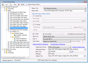 Dynamics GP forms and printers