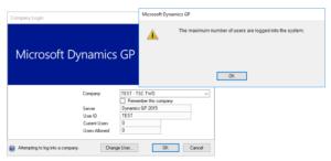 Maximum Number of Users in GP