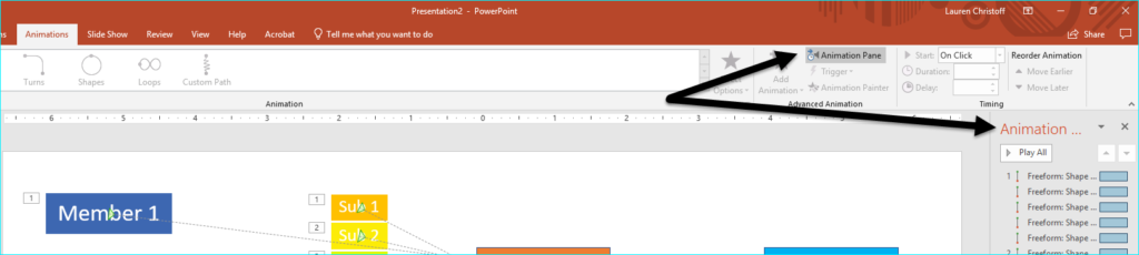 Microsoft PowerPoint Motion Path