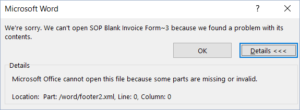Dynamics GP Microsoft Word Error