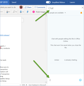 Chat in Office 365