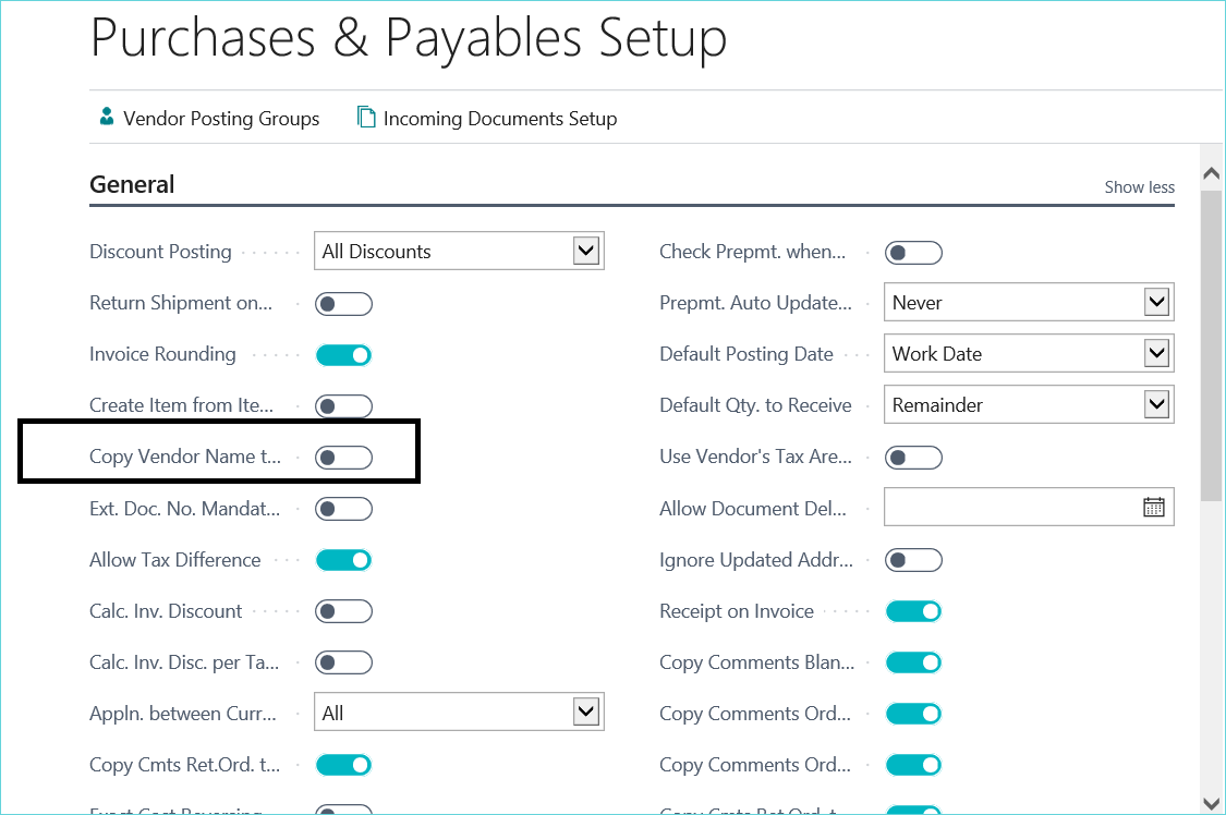 Dynamics 365 Business Central New Feature