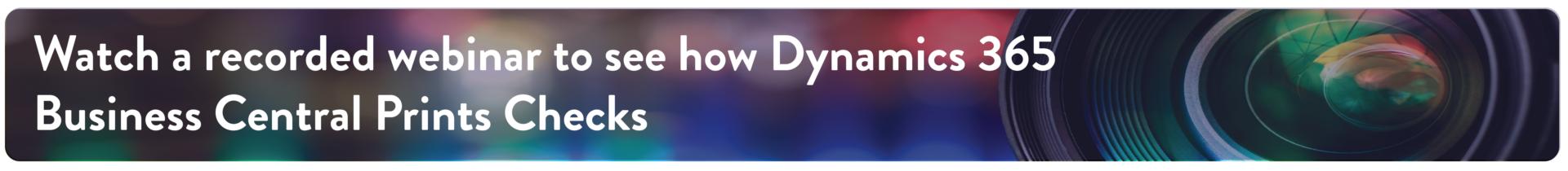 Dynamics 365 BC Check Printing
