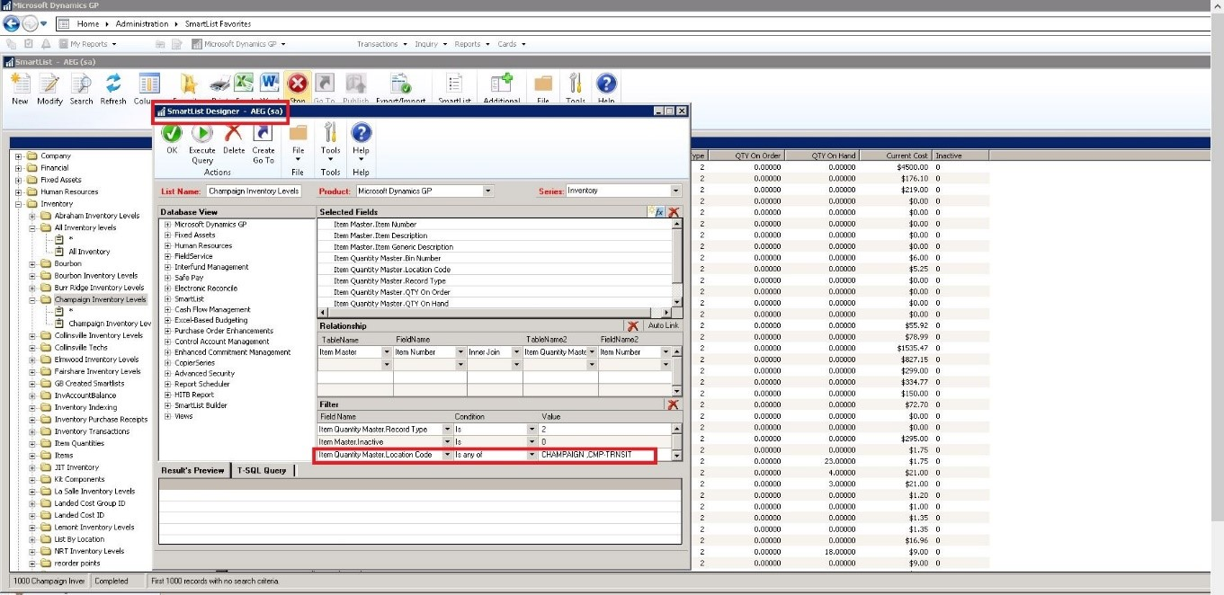 Modify SmartList Designer in Dynamics GP