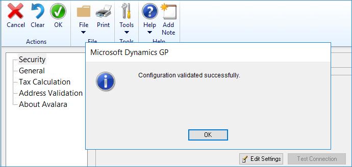Avalara's Avatax in Dynamics GP