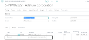 Item Extended Text In Dynamics 365 BC