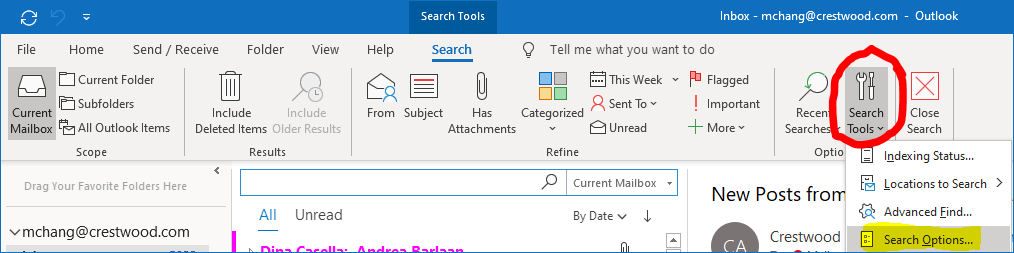 Top Results in Outlook