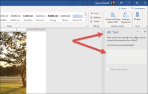 Alt Text in Microsoft Word