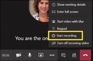 Sharing Teams Recordings