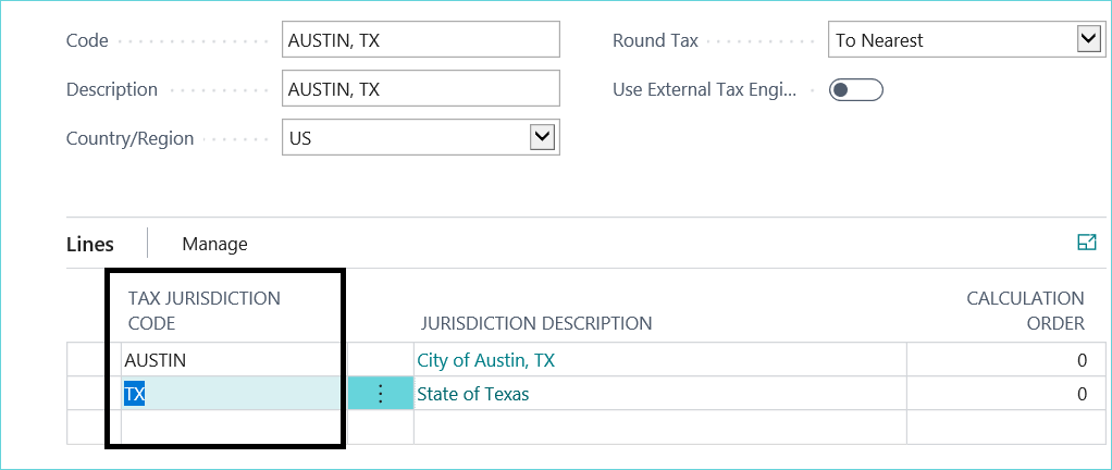 Tax setup in Dynamics 365