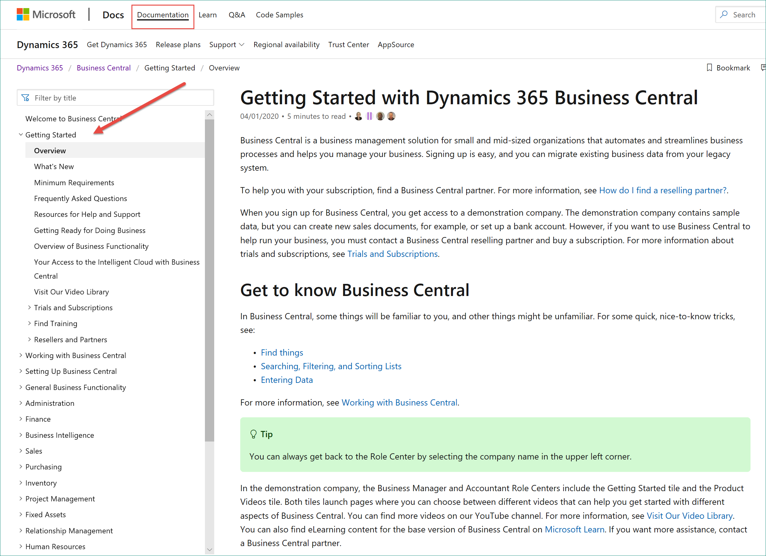 LEARN Dynamics 365 Business Central
