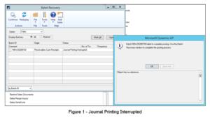 Dynamics GP Error - Journal Printing