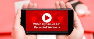 Dynamics GP Recorded webinars