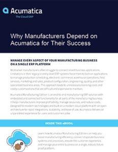 Acumatica for Manufacturers