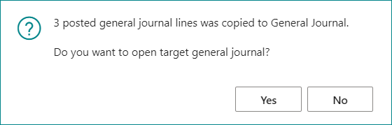 Coping General Journals in Business Central