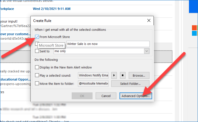 Email Forward Rule in Outlook