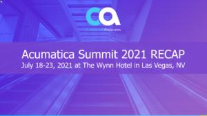 Acumatica Summit Recap 2021