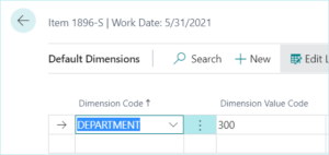 Default Dimension Priorities in Dynamics 365 Business Central